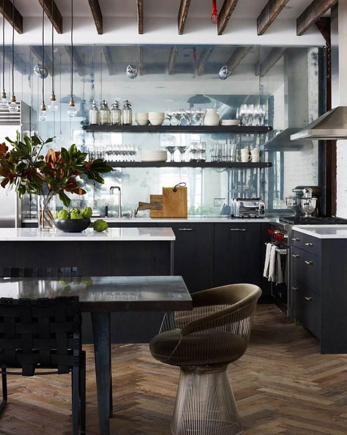 diseño cocina industrial blanco negro