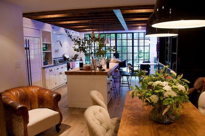 diseño cocina comedor moderno madera