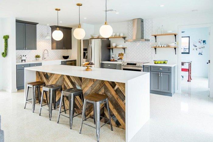 diseño cocina blanca estilo industrial