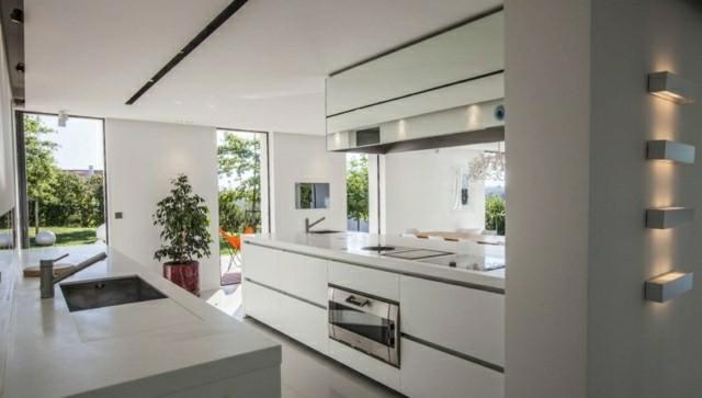 Casas modernas 50 ideas para decorar interiores - Cocina blanca moderna ...