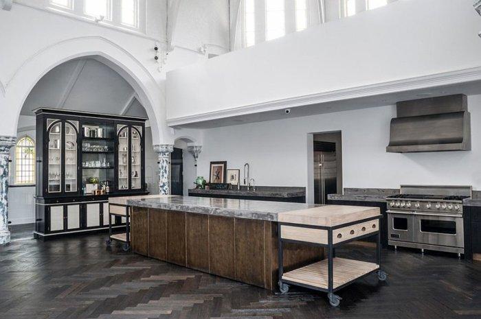 diseño cocina industrial electrodomesticos modernos