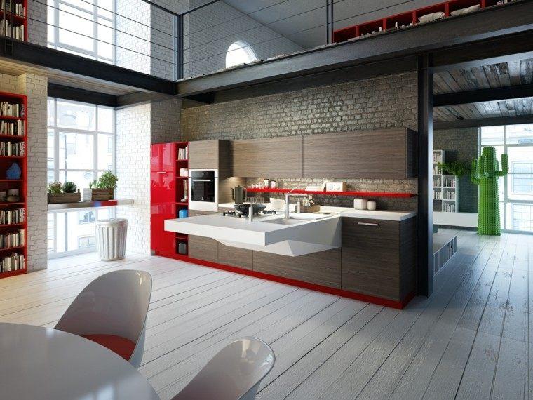 diseño cocina loft estilo futurista