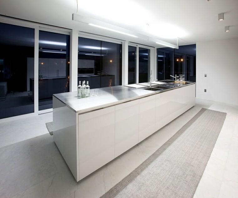 diseño cocina estilo minimalista blanca
