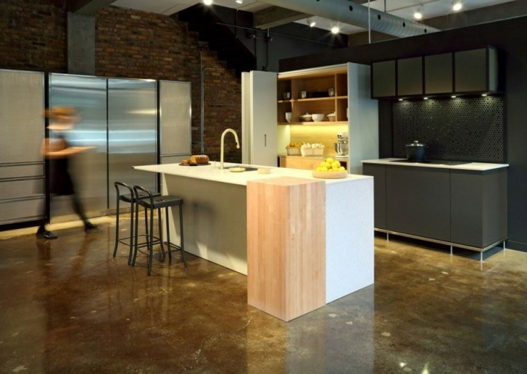 Dise o de cocinas modernas 100 ejemplos geniales - Diseno cocina industrial ...