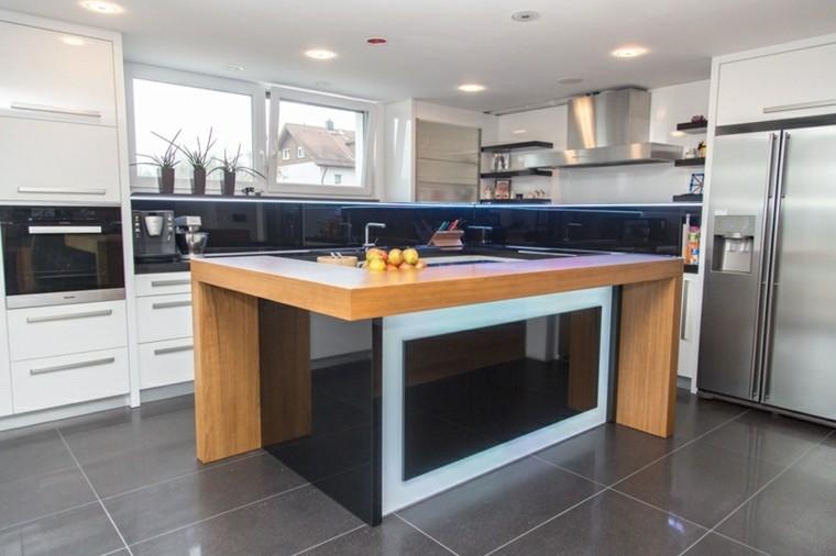 Dise o de cocinas modernas 100 ejemplos geniales for Disenos de cocinas integrales de madera modernas
