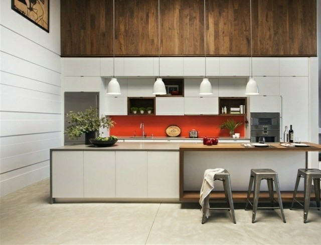 Casas modernas 50 ideas para decorar interiores for Adornos para cocina moderna