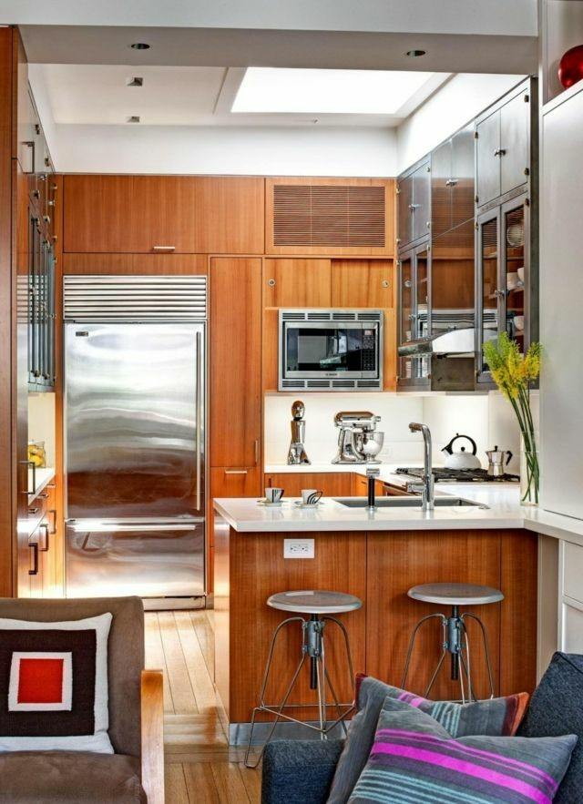 Casas modernas 50 ideas para decorar interiores for Diseno de cocina pequena