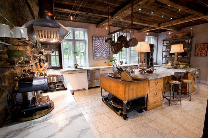 diseño cocina combinacion rustico industrial electrodomesticos