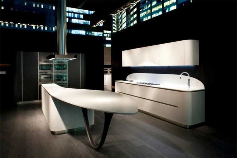 diseño de cocinas color blanco