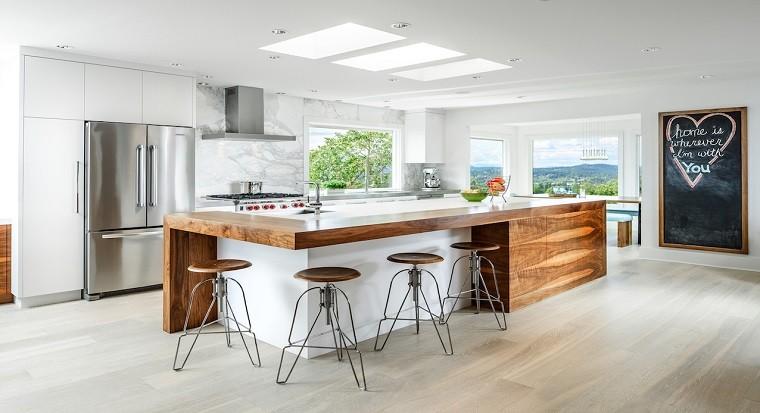 diseño de cocinas elegante funcional madera