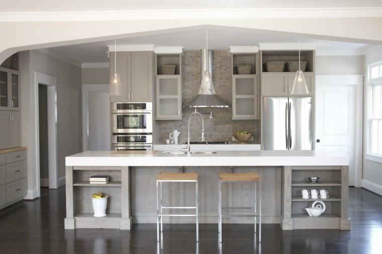 diseño de cocinas gris acero balance