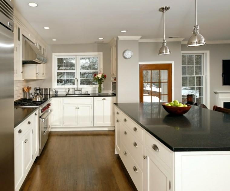diseño de cocinas madera suelo acero