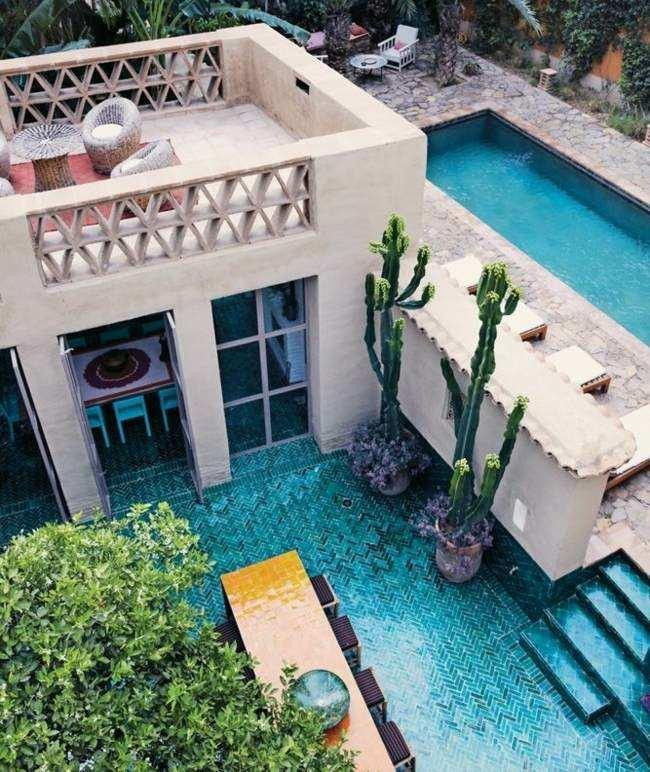 diseño de piscinas obra terraza