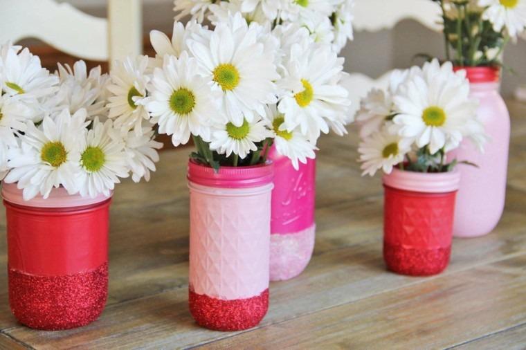 diseño diy plastico flores blancas envases
