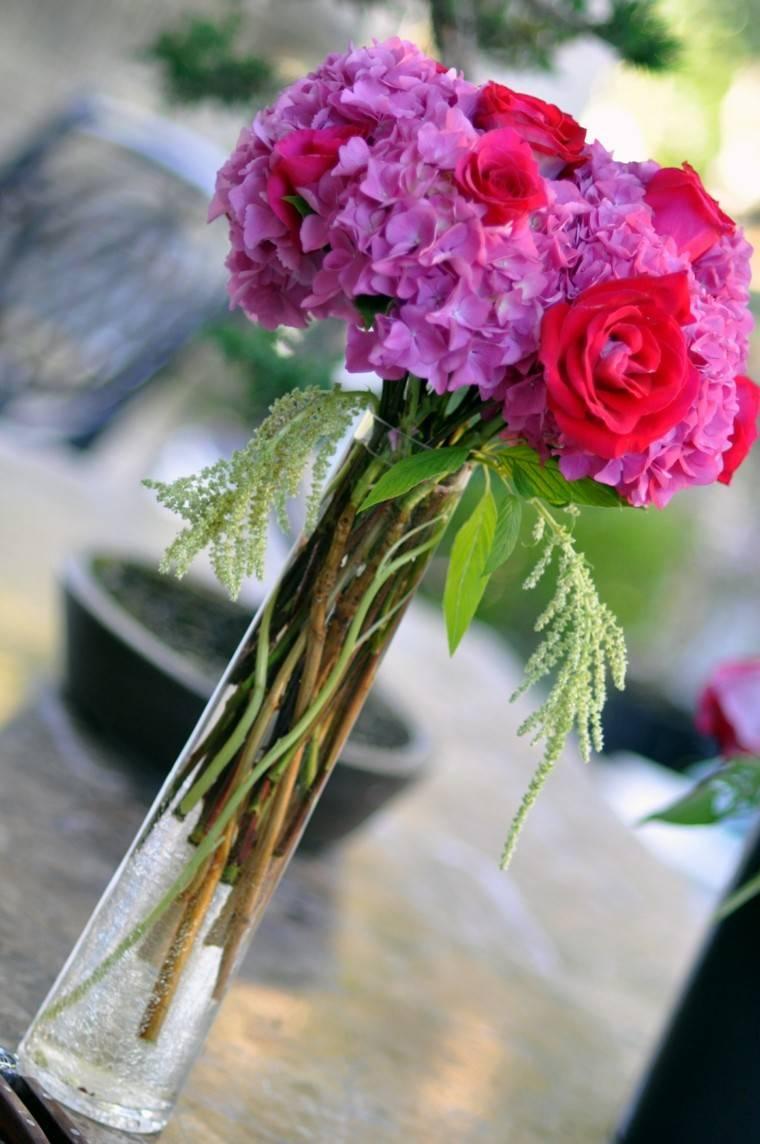diseño diy purpura jarron rosa
