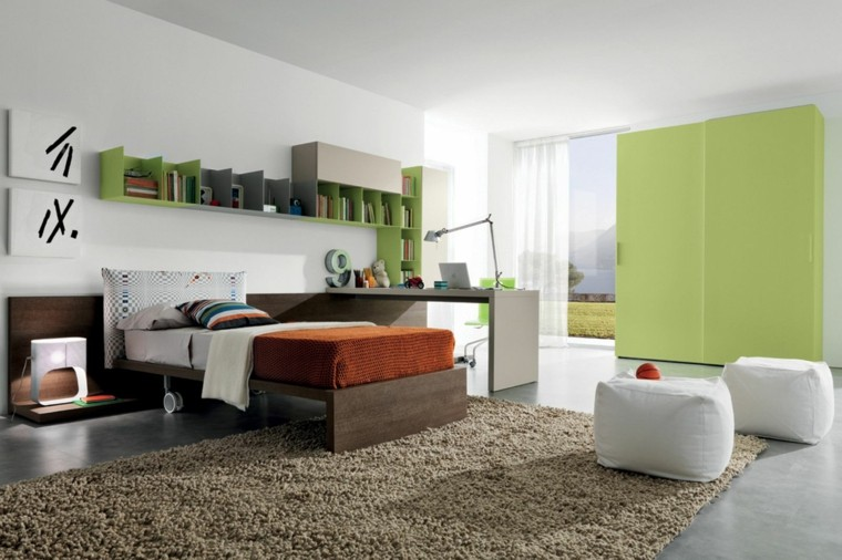 diseño dormitorio juvenil moderno