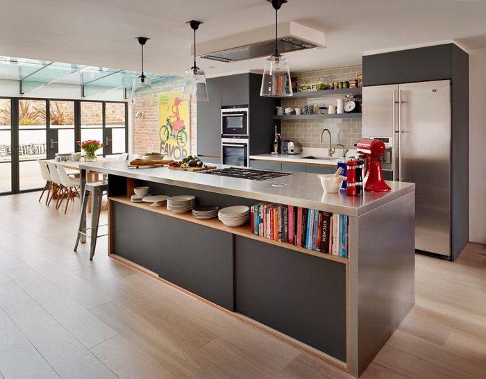 diseño electrodomesticos muebles cocina acero