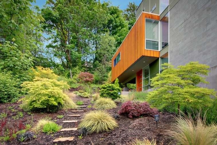 diseño escaleras piedra camino jardin
