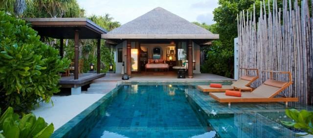 diseño estilo exotico jardin piscina