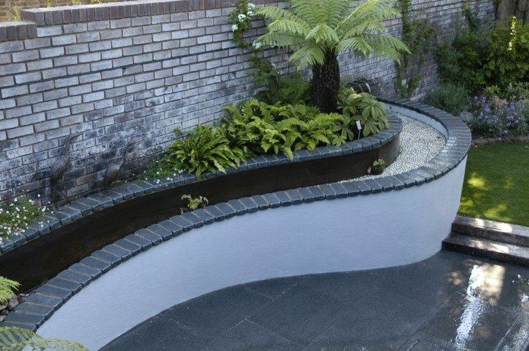 diseo fuente agua borde jardin
