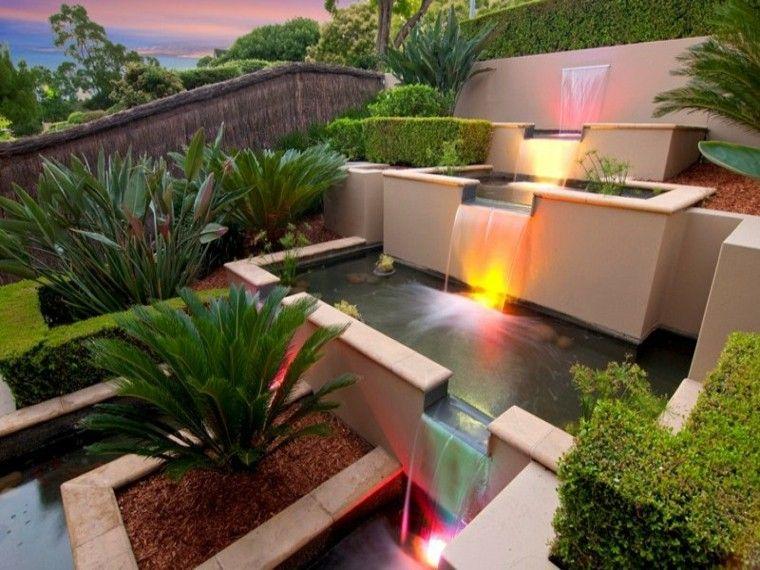 modern waterfall fountain design