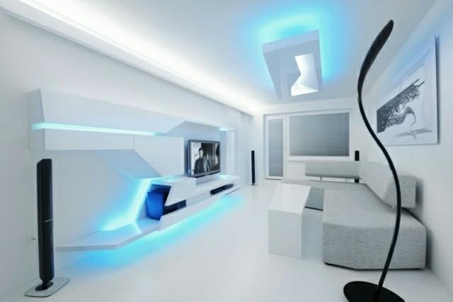 diseo futurista blanco casas modernas