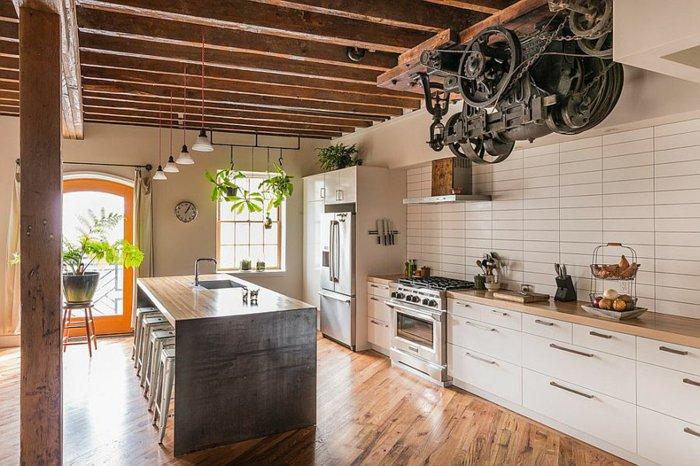 diseño estilo industrial cocina electrodomesticos