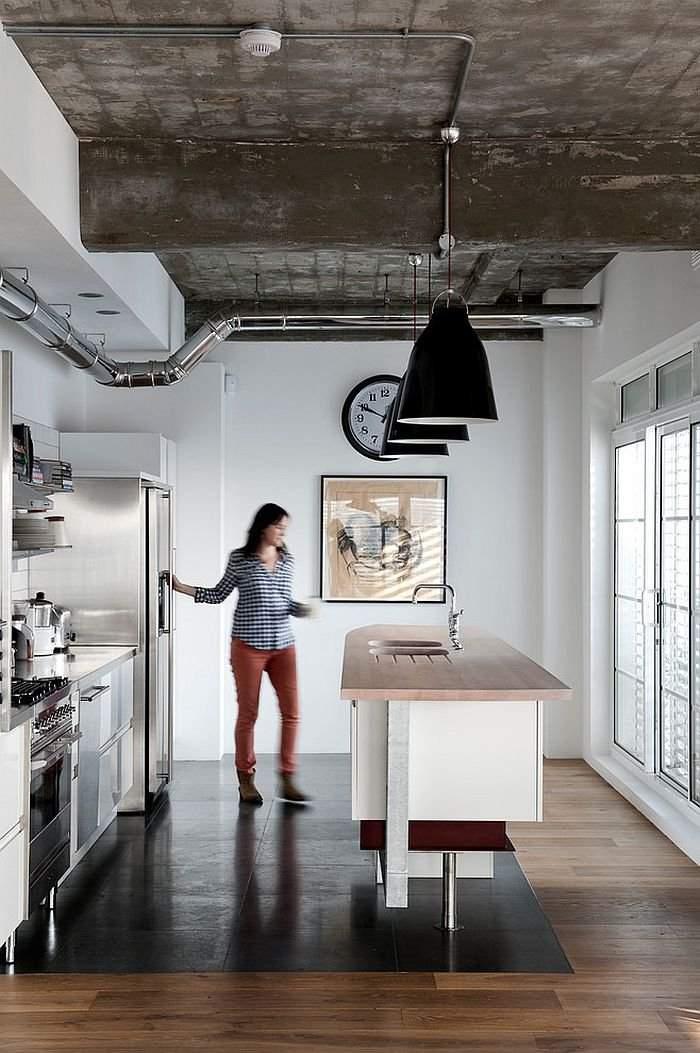 diseño estilo industrial sobrio cocina