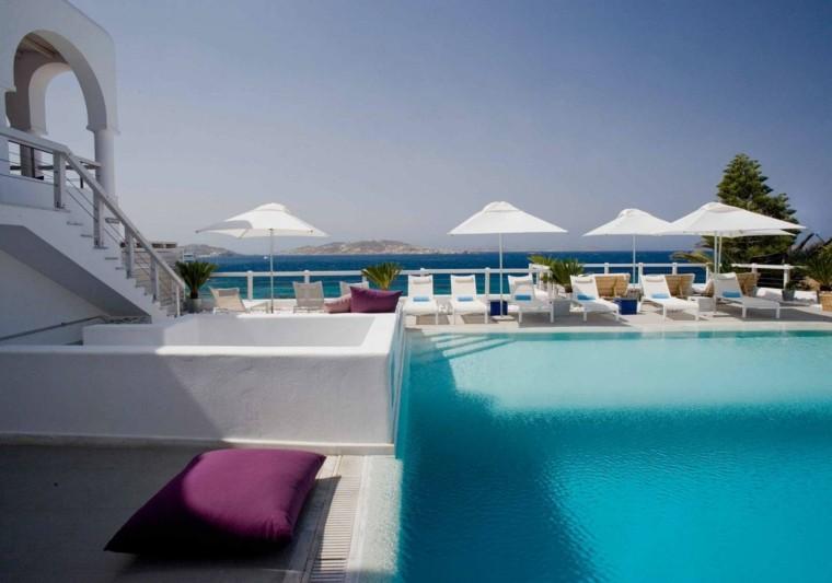 diseño jardin piscina estilo marroqui