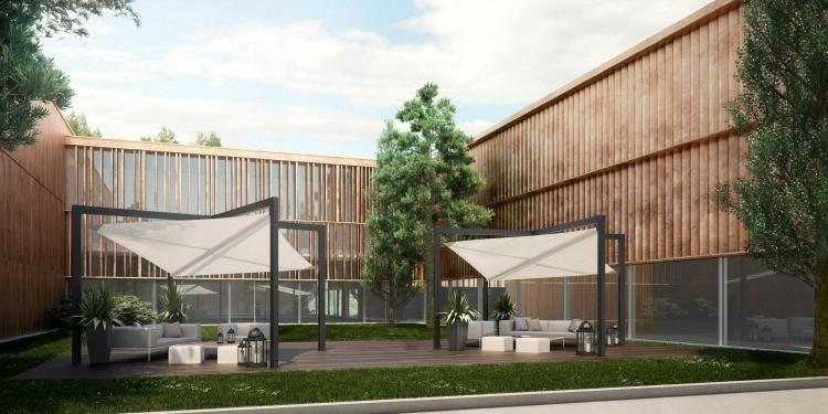 Toldos y parasoles de dise o moderno 50 ideas for Parasoles arquitectura