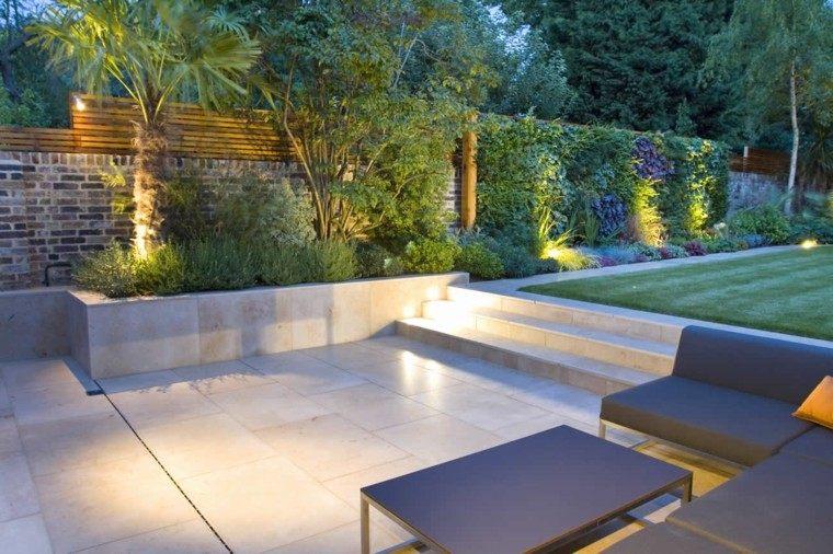 diseño jardin muebles esquina plantas