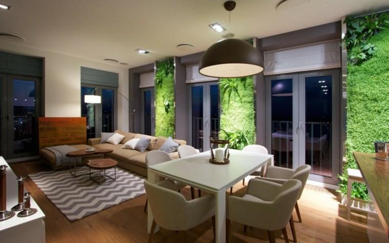 diseño jardines verticales interior paredes