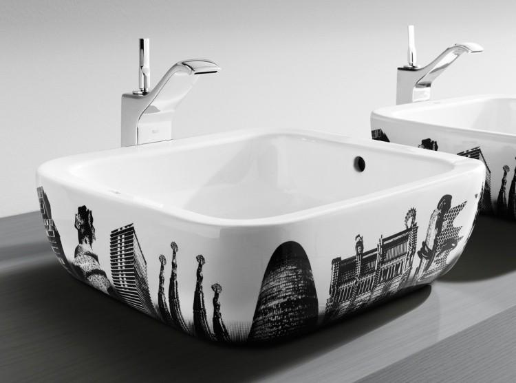 diseo lavabo edificios modernos encimera