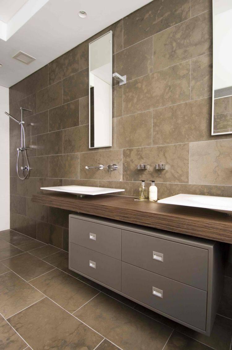 Lavabos sobre encimera modernos 50 ideas for Banos con dos lavabos