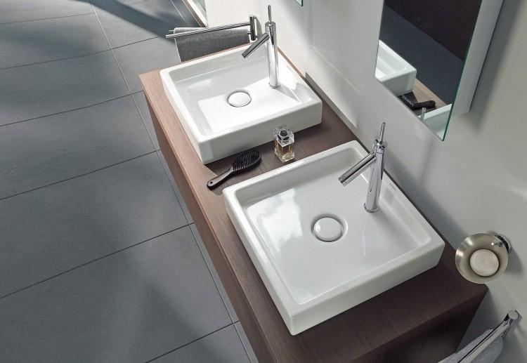 diseño lavabos moedrnos cuadrados encimera