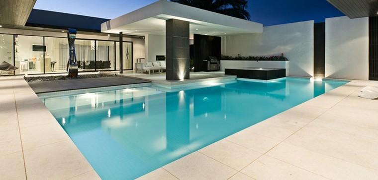 diseño modelos jardines modernos piscina