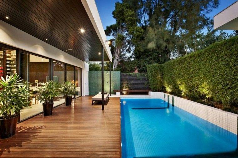 diseño modelos piscinas madera