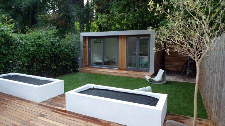 diseño estilo moderno caseta jardin