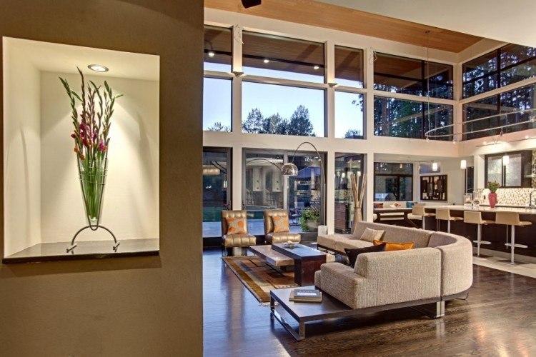 diseño estilo moderno decorar salon escultura