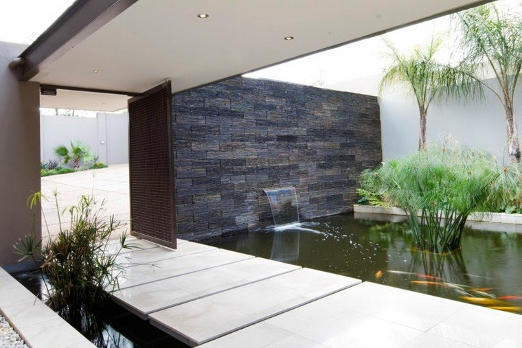 diseño estilo moderno estanque koi