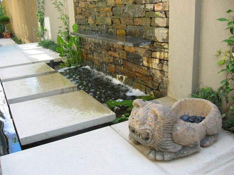 diseño moderno jardin estilo japones