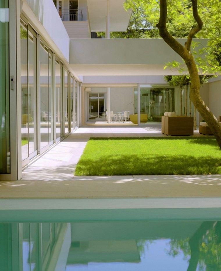 diseño estilo moderno jardin isla