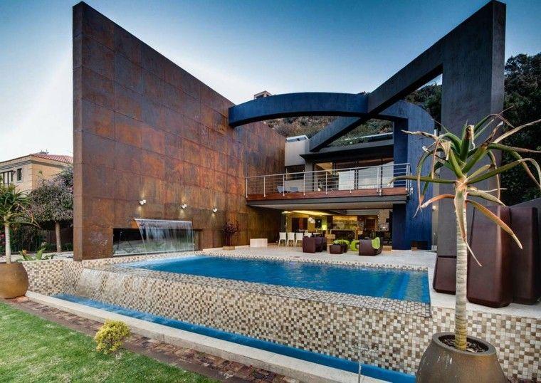 diseño estilo moderno jardin piscina