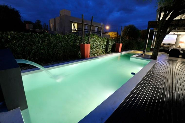 diseño moderno jardin piscina porche