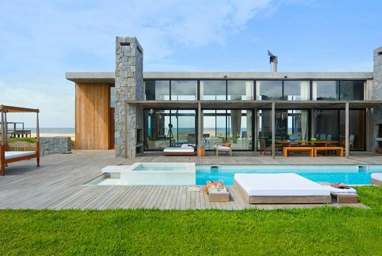 diseño moderno miradores piscina