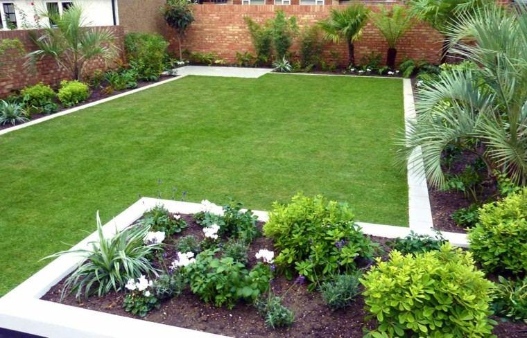 diseño jardin moderno parcela cesped