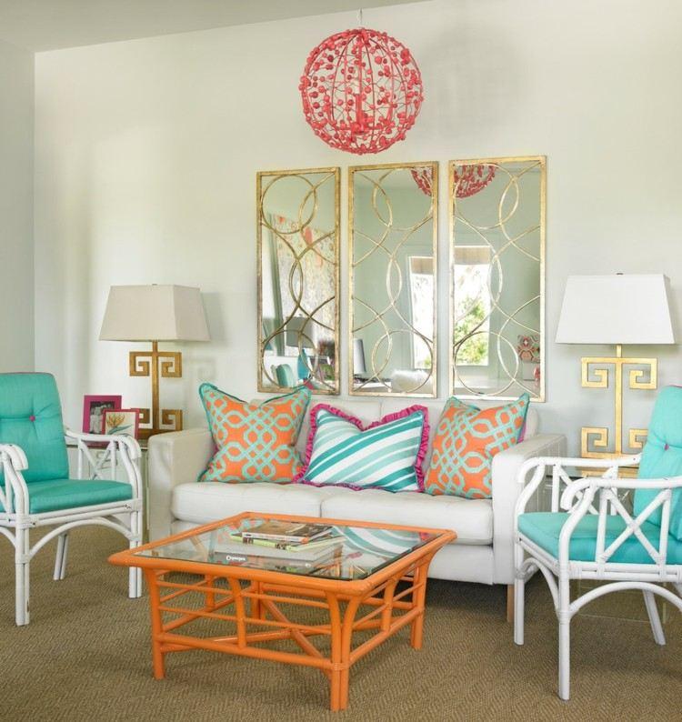 diseño estilo moderno piso colores