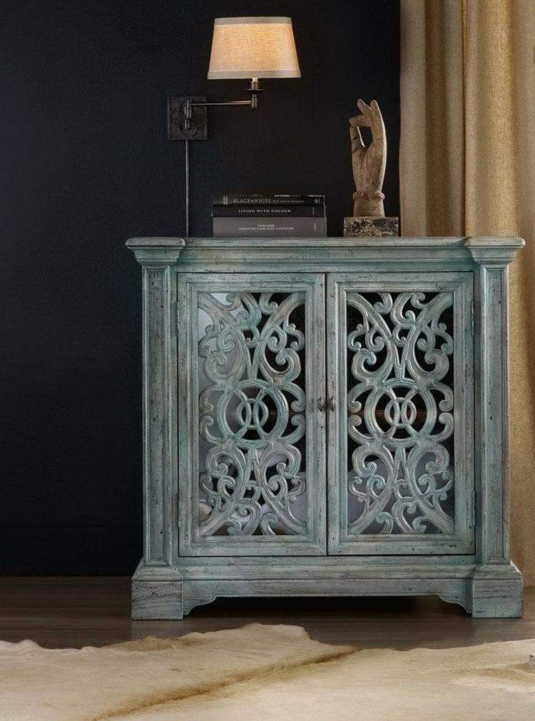diseño mueble comoda desgastada azul