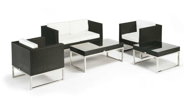 diseño muebles ratan blanco negro