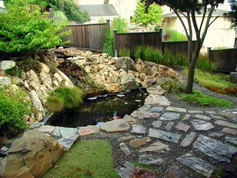 diseño oasis estanque koi rocalla
